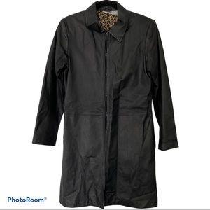 Newport News Genuine Leather Coat SM